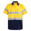 Picture of 100% Cotton Two Tone Short Sleeve Reflective Work Shirt