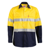 Picture of 100% Cotton Vented Long Sleeve Reflective Work Shirt